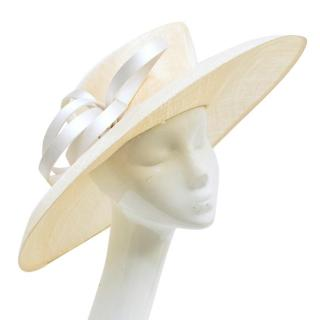 Philip Treacy Cream Formal Hat