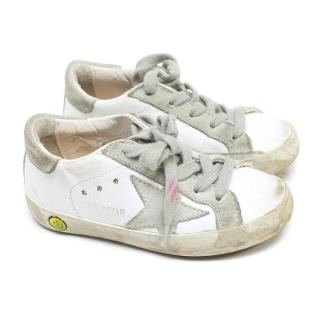 Golden Goose Kid's Cream Super Star Sneakers
