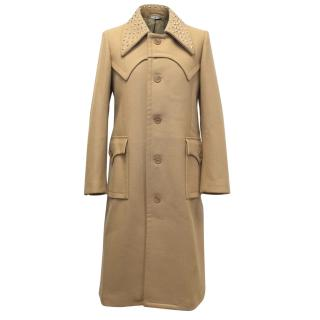J.W Anderson Runway Camel Coat with a Studded Collar