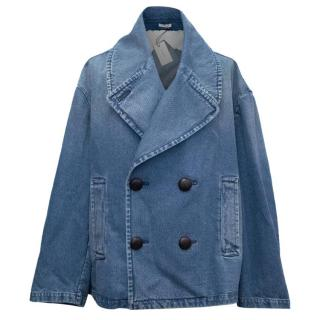 J.W Anderson Runway Oversized Cropped Denim Peacoat