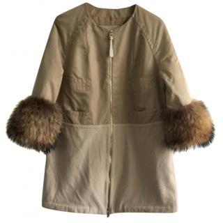 Barbara Bui Cashmere Fox Fur Coat