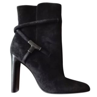 Tom Ford suede ankle boots black suede