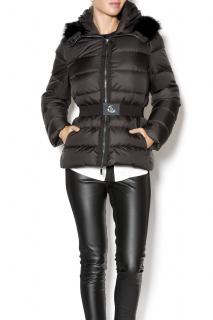Moncler Fabreges Black Beaver Fur Collar