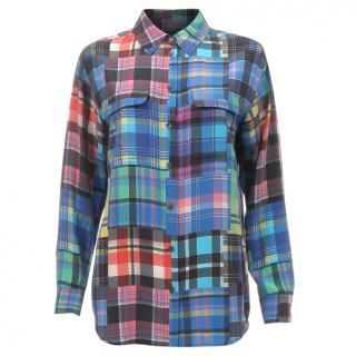 Equipment Silk Check Shirt