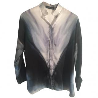 MARIA GRACHVOGEL 100% silk printed multi coloured blouse