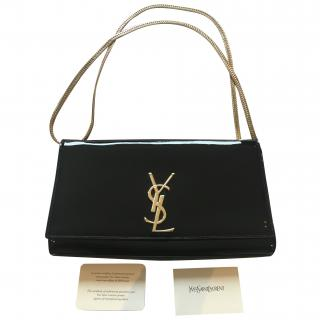 YSL black leather shoulder bag