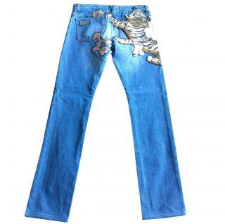 Chloe Tiger slim leg jeans