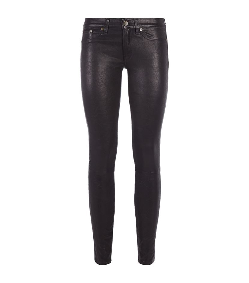 Rag & Bone, Hyde Leather Skinny Jeans