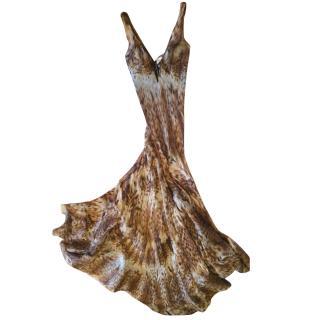 Roberto Cavalli organza silk gown