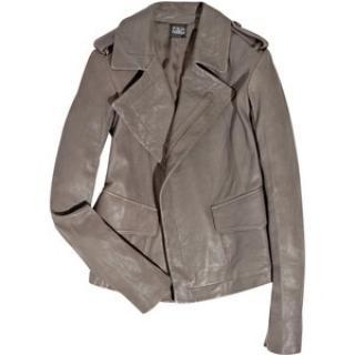 Edun grey leather jacket