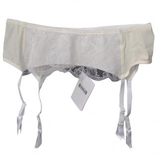 Wolford cream-white suspender belt