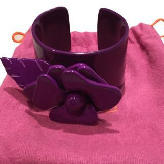 Etro purple flower bangle