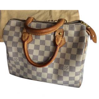 Louis Vuitton Damier Azur Canvas handbag with receipt