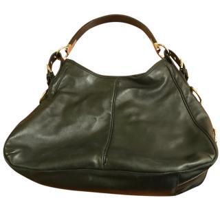 Sergio Rossi black leather shoulder bag
