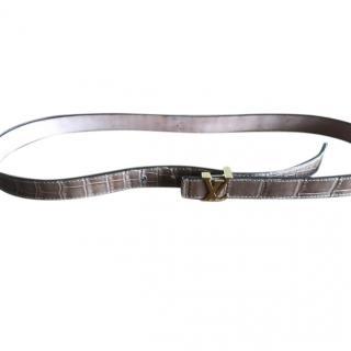 Louis Vuitton Ladies Crocodile belt with Cites