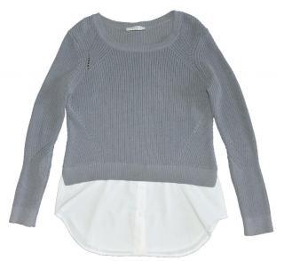 SANDRO Paris Chiffon Trim Sweater