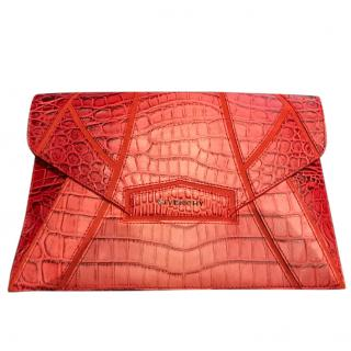 Antigona Envelope Clutch in Red Crocodile