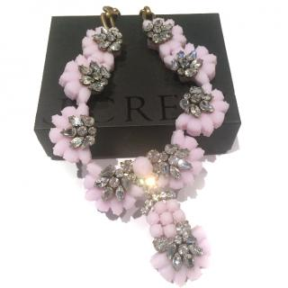 J Crew Silicone/Crystal Cluster Necklace
