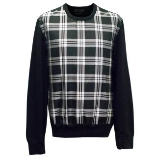 Alexander McQueen Black and White Check Jumper