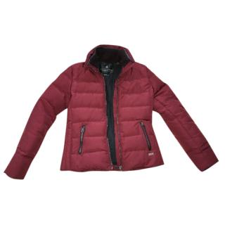 Maison Scotch red wine burgundy jacket puffer