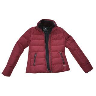 Maison Scotch red wine burgundy jacket puffer