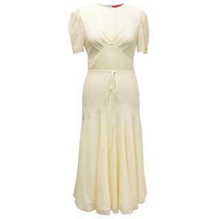 Hilfiger Collection Cream Dress