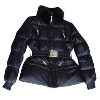 CelynB Padded Jacket with Fur Collar in Black