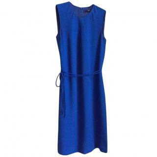 Hugo Boss mid-length dress in blue