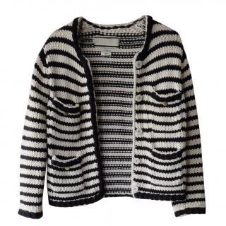 By Malene Birger Baniel Soft Striped Cropped Cardigan - bretone stripe
