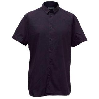 McQ by Alexander McQueen Men's Navy Short Sleeved Shirt