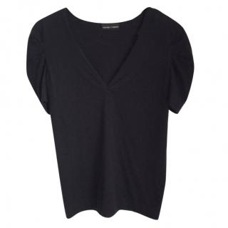 Emporio Armani Cashmere t-shirt in black