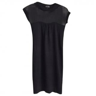Armani black cashmere & silk dress