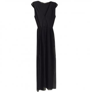 Maje Long Black Dress