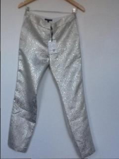 Tara Jarmon Gold Brocaide Trousers
