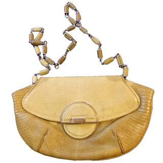 Calvin Klein Embossed Snake Skin Handbag