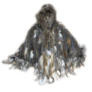 Fur Knitted Poncho