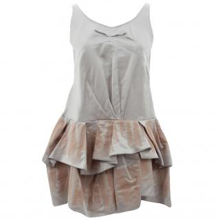 Marc Jacobs Collection Satin and Mesh Dress