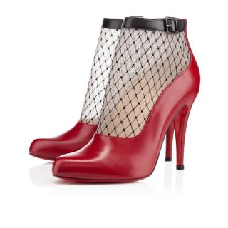 CHRISTIAN LOUBOUTIN Resillissima  Leather Ankle Boots