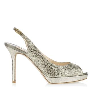 JIMMY CHOO glitter heeled sandals