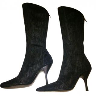 Sergio Rossi beaded boots