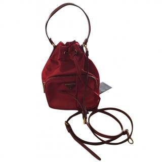 Prada vela bucket bag