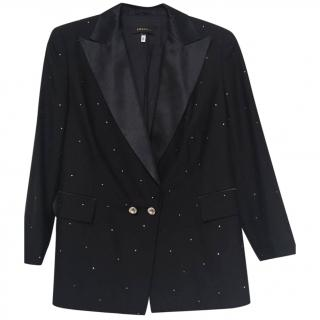 Escada Wool Jacket with Silk Lapels