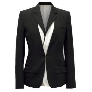 Reed Krakoff Black Blazer with Black and Cream Vest