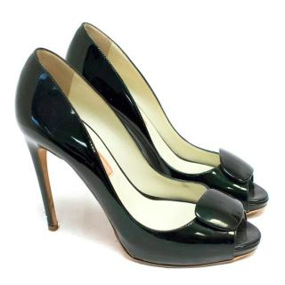 Rupert Sanderson Black Peep-Toe Pumps