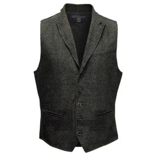 John Varvatos Brown Wool Vest