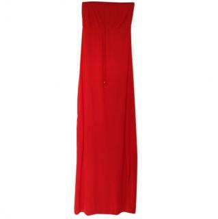 Heidi Klein Red Bandeau Maxi Dress