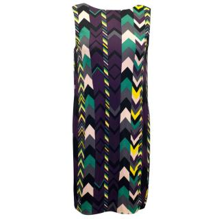 M by Missoni Multi-Color Chevron Print Sleeveless Dress