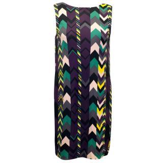 M by Missoni Multi-Color Chevron Print Sleeveless Dress