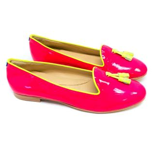 Chatelles Pink Flats with Tassels