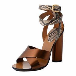 Gucci Python Wrap Around Sandals